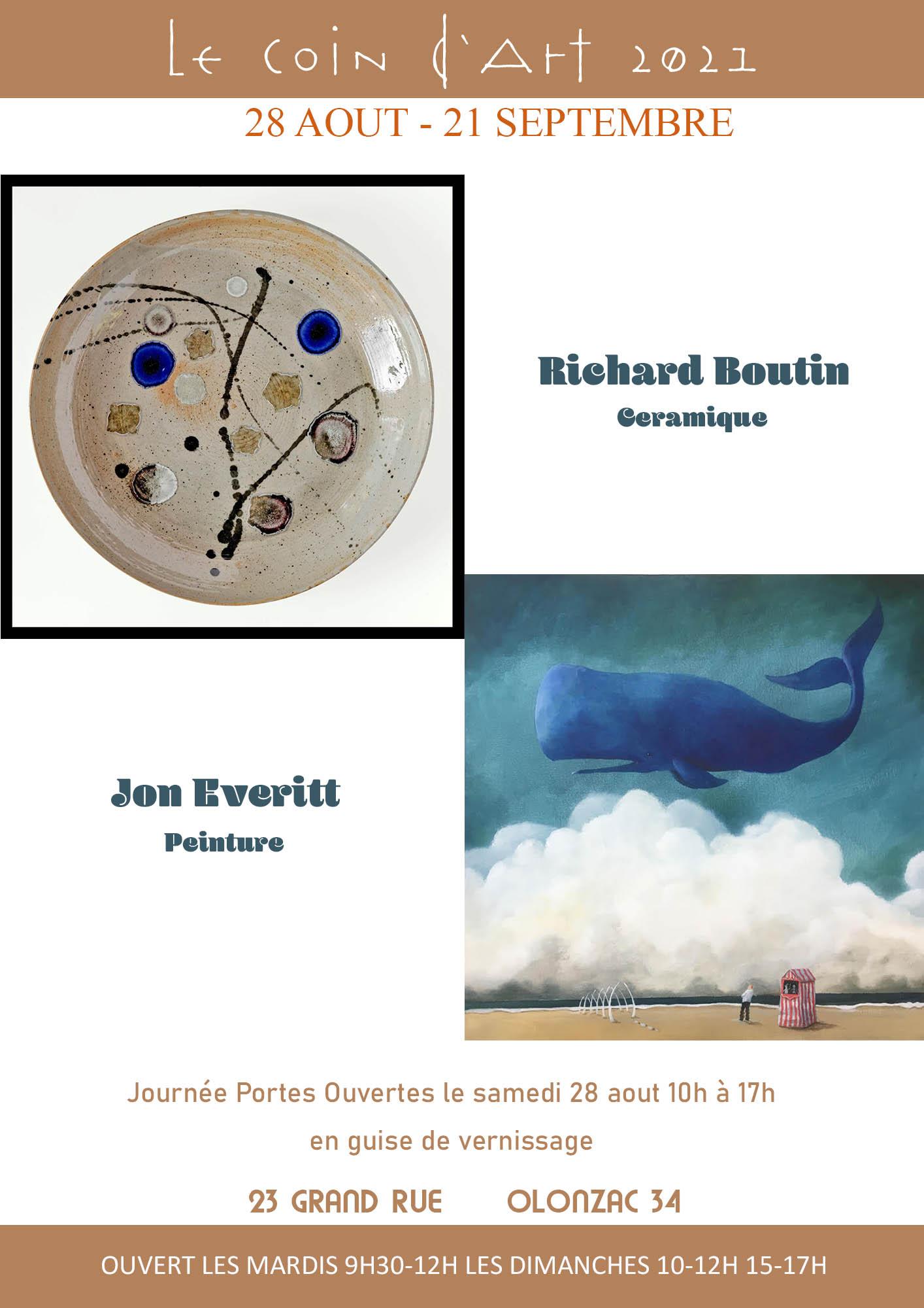 Richard Boutin & Jon Everitt, exposition au Coin d'Art